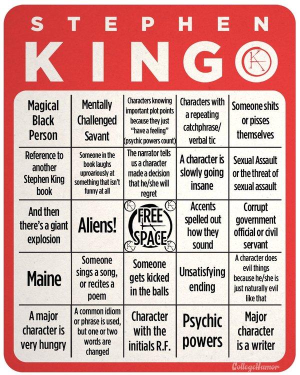 Stephen King Drinking Game! стивен кинг, книги, штамп, баян, Писатель, литература, юмор, Игры