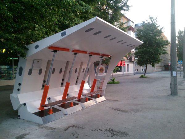 Необычная остановка в городе Кемерово Необычная остановка, Крепь, Кузбасс
