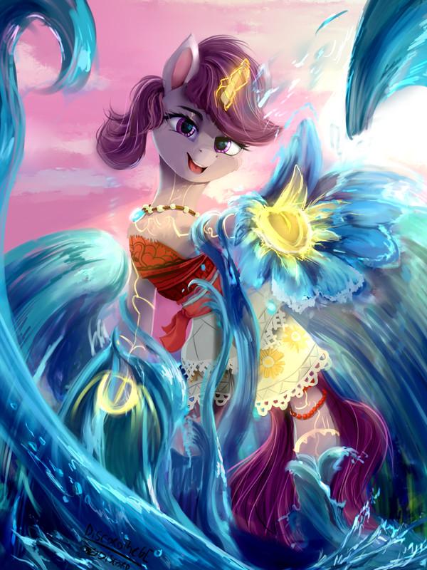 Princess of the sea My little pony, PoNynesia, Original Character, Crossover, Моана
