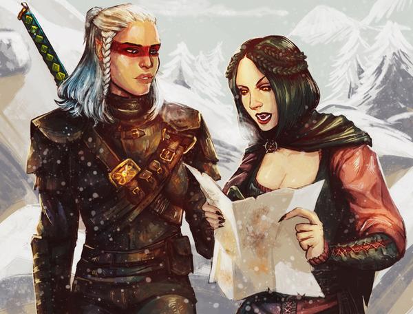 Немного артов по Skyrim Skyrim, арт, Серана, Лидия, Бабетта, вампиры, довакин, длиннопост