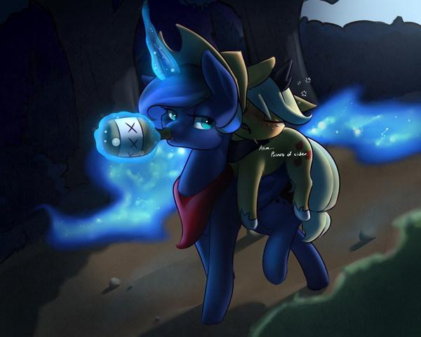 Luna & AppleJack # 24 My little pony, Princess luna, AppleJack, Арт