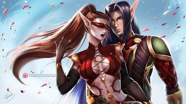 'Velenthia and Baelaris' by OlchaS OlchaS, Warcraft, Demon hunter, Paladins, World of Warcraft, Эльфы крови
