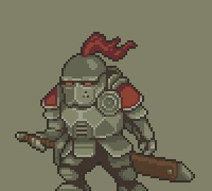 Рыцарь - противник для платформера Pixel art, пиксель, indie, инди, gamedev, гифка