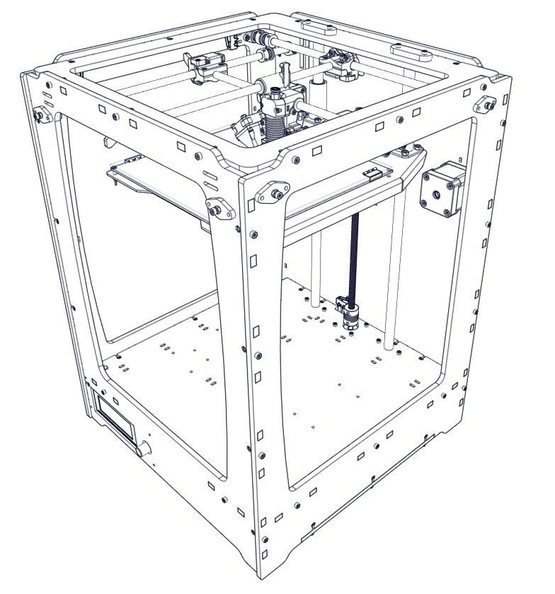 UlTi v1.0 Финальный проект OpenSource 3D принтера. UlTi, Ultimaker Original, 3D принтер, Open Source, Длиннопост