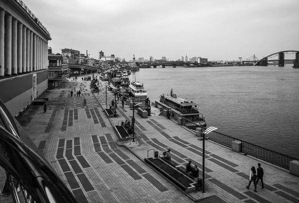 ...река, хоть и текла так медленно, Фотография, Река, Люди, Черно-Белое