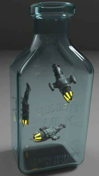 Бутылка со светлячками
