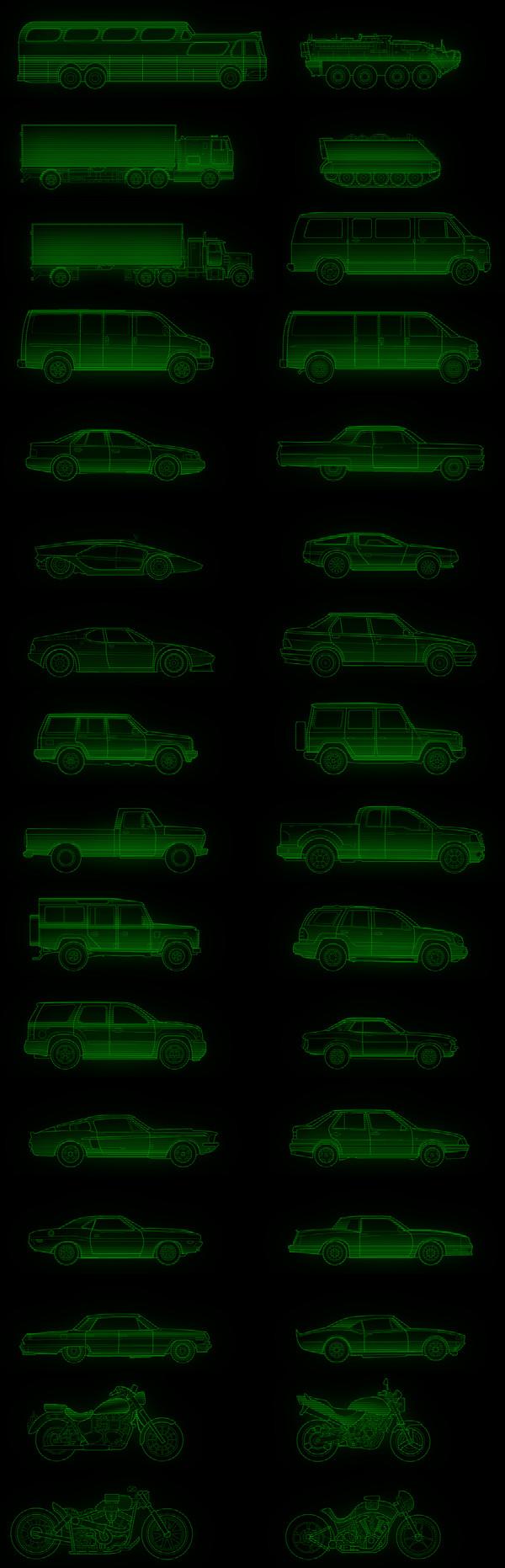 Автомобильные раскраски для ретро-аутистов Road dogs, Fallout, Gamedev, Retrowave, 80-е, Монохром, 2D, Длиннопост