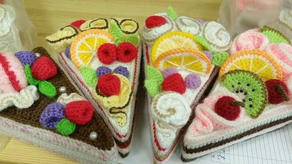 Вязанные тортики