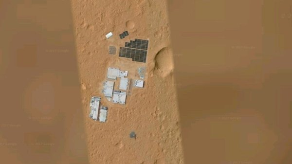 На Марсе обнаружили базу инопланетян [Фейк] Марс, База, Фейк