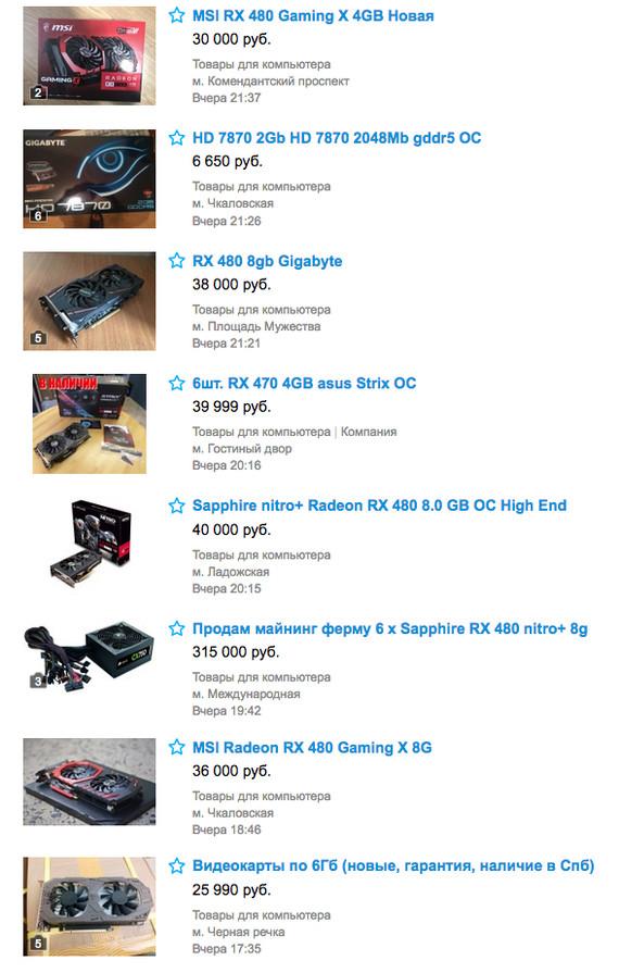 Что-то случилось с Etherium. Видеокарты на Авито. Майнинг, Эфир, Radeon, Etherium, Курс, Авито