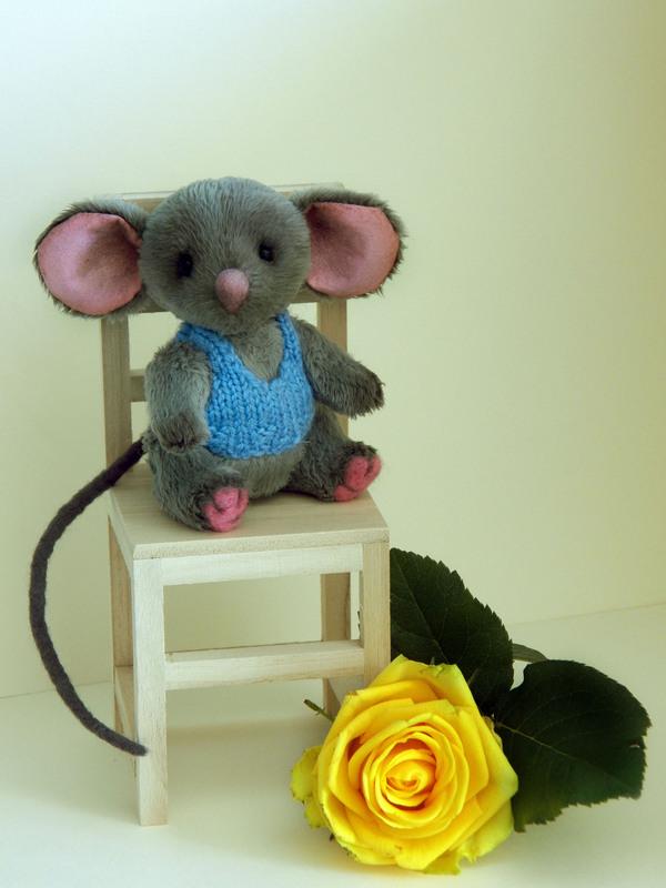 Мышонок мягкая игрушка, хобби, рукоделие, шитье, вязание, рукоделие без процесса, мышонок, роза