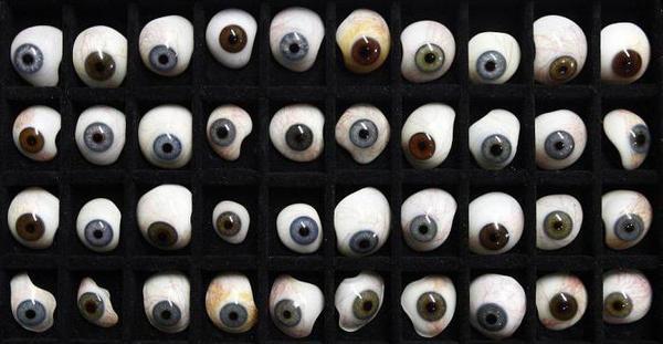 Глазные протезы из стекла. Глаза, Протезирование, Стекло, Длиннопост