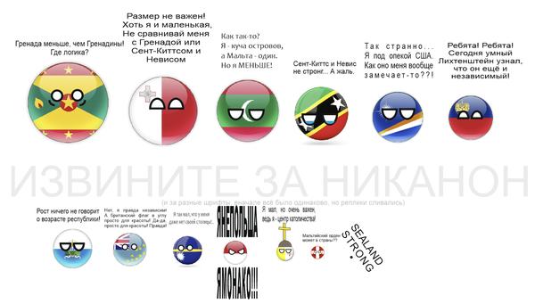 Самые маленькие страны.