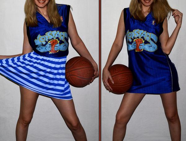 Бацкетбольная футболка MONSTARS / Space Jam роспись по ткани, девушки, футболка, рисунок, арт, творчество, Баскетбол, Space Jam