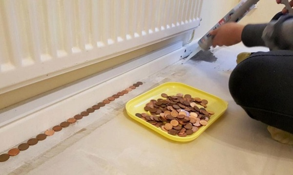 Мужчина собрал монеты и сделал из них пол, как в самых шикарных особняках ремонт, подход, я не рукожоп, пол, монета, красота, идея, хочу такой, видео, длиннопост