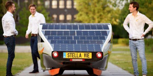 Студенты из США создали электромобиль, питающийся только от энергии солнца Авто, Экология, Солнечная энергия, США, Студенты, Длиннопост
