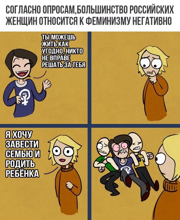 Феминизм в России юмор, Комиксы, опрос, феминизм