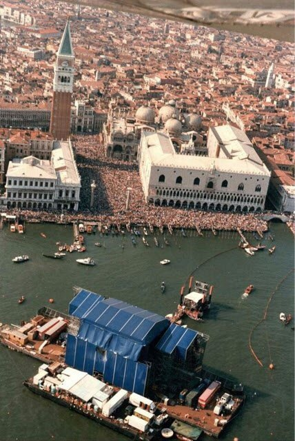 История масштабного концерта Pink Floyd в Венеции, 1989 год Рок, Музыка, Концерт, Венеция, Прошлое, 20 век, Интересное, Pink floyd, Длиннопост