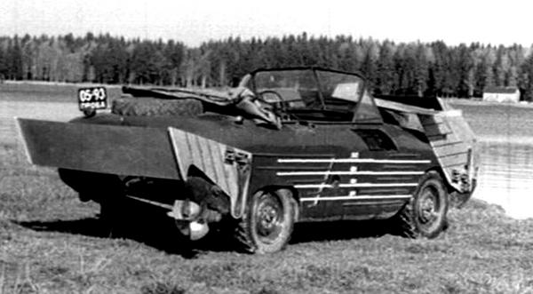 Советский автомобиль-амфибия на подводных крыльях амфибия, подводные крылья, ссср, военные разработки, длиннопост, авто, Интересное