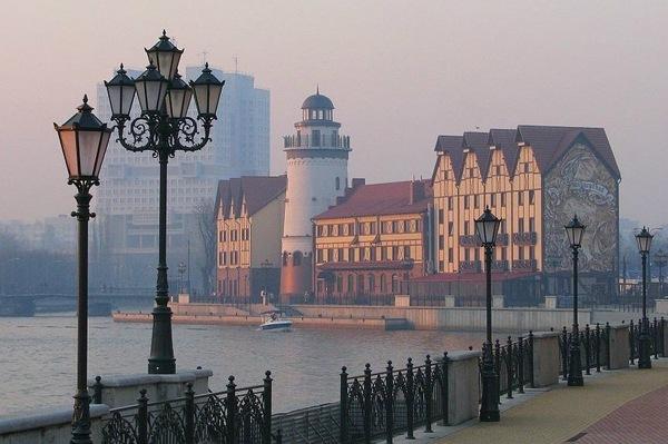 Туманная набережная Калининграда