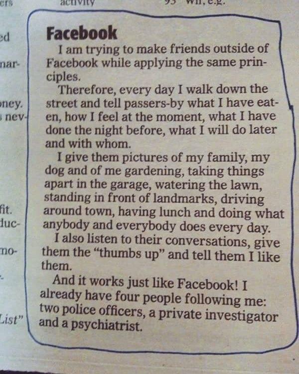 Фейсбук в реальной жизни социальные сети, подписчики