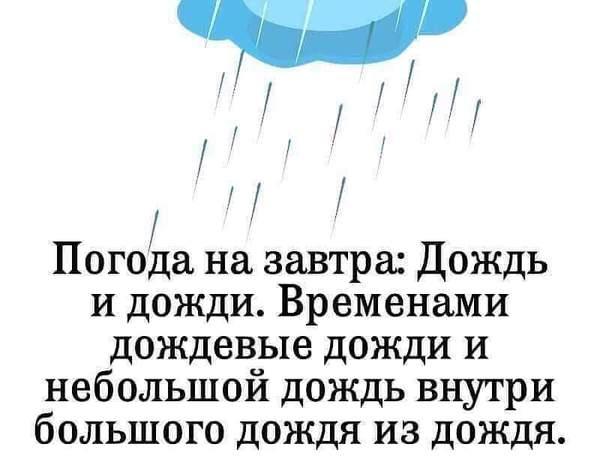 Погода на завтра...