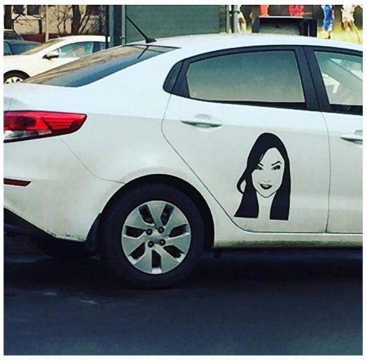 """Фото из инстаграмма Саши Грей или """"когда у машины седьмая ПТСка"""" Саша грей, фотография, instagram, авто, Москва, Россия, аэрография"""