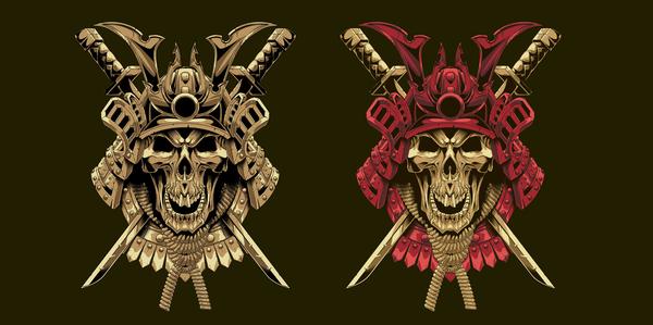 Мой новый принт череп- самурай футболка, череп, арт, Самурай, футболка с принтом