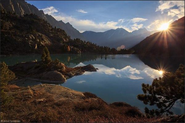 Озеро Дарашколь Россия, фотография, природа, пейзаж, Алтай, озеро, сентябрь, надо съездить, длиннопост