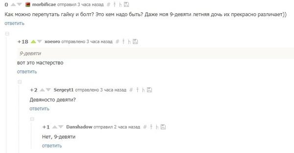 Да что вы знаете о сокращениях Комментарии, Скриншот