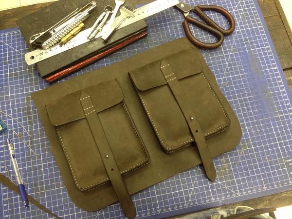 Кожаная сумка-портфель своими руками