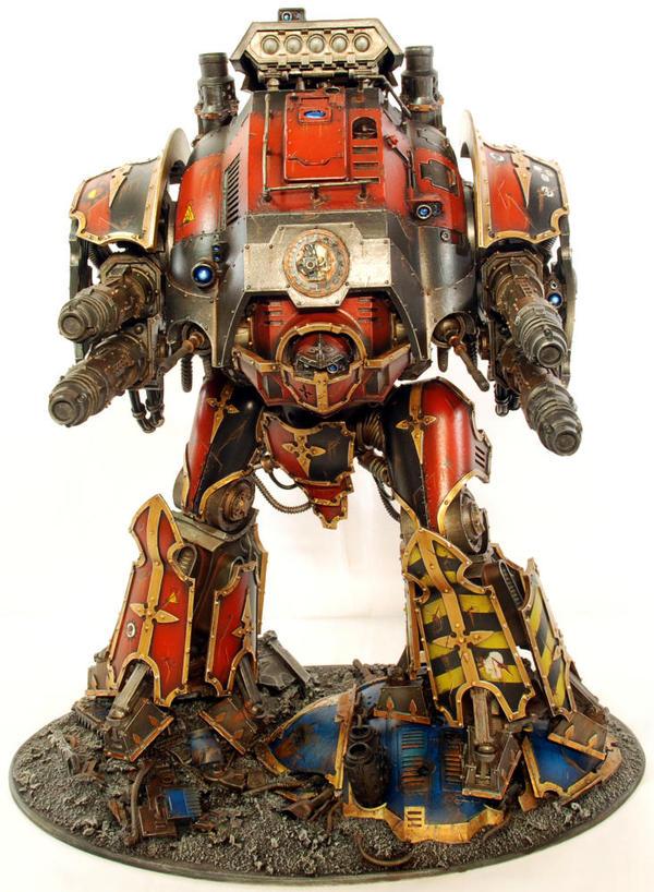 Самый Большой Рыцарь Warhammer 40k, Wh miniatures, Imperial knight, Mechanicum, Миниатюра, Покраска миниатюр, Длиннопост
