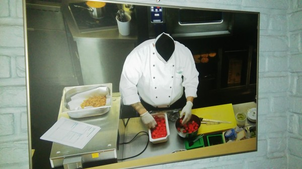 Повар без головы))) Фотография, Повар, Ресторан, Обман зрения
