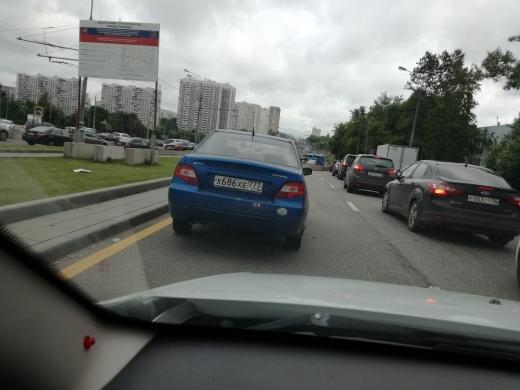 Брошенная машина Машина, Варшавское шоссе, Авария, Бросили