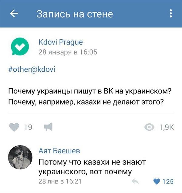 Почему казахи не пишут на украинском ВКонтакте, украинцы, казахи, Картинки