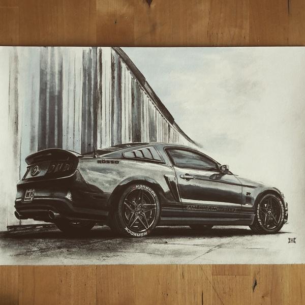 2011 Ford Mustang V6 авто, машина, Искусство, рисование, рисунок, рисунок карандашом, арт, ВКонтакте, длиннопост