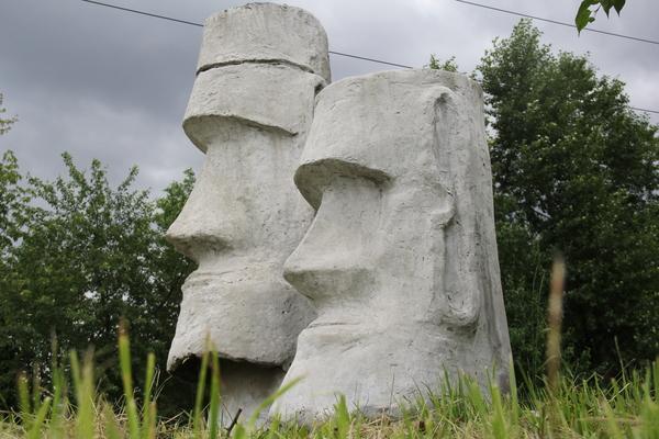 Моаи в Екатерибурге Фотография, Моаи, Статуя, Идол, Истуканы, Екатеринбург