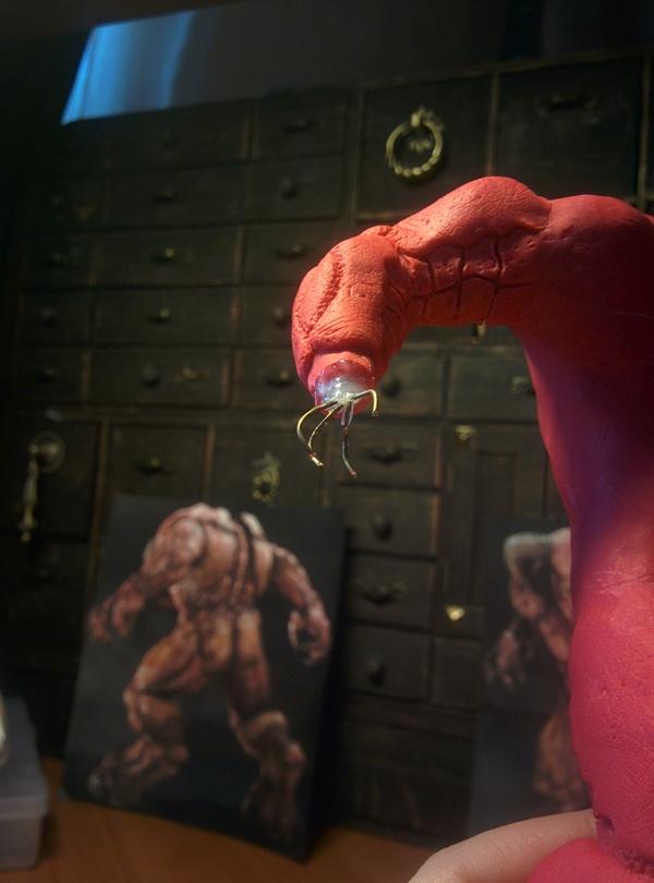 """""""Baron of Hell"""". Процесс. Полимерная глина, Творчество, Скульптура, Демон, Doom, Художник, Хобби, Рукоделие, Длиннопост"""