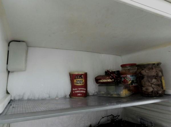 Холодильник ест мою еду холодильник, холод, разморозка, лень