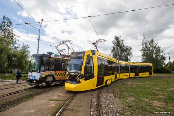 Новый трамвай тестируют в Минске трамвай, Минск, Тест