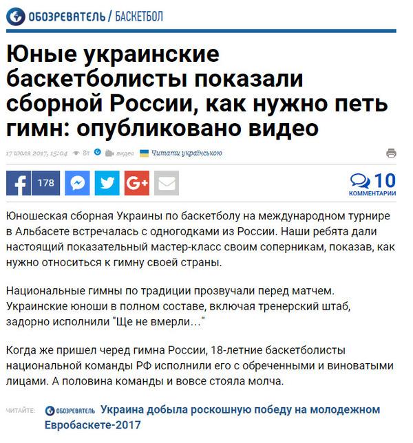 Новости спорта по-украински укросми, новости, Баскетбол, гимн, Украина, Россия, юношеские сборные
