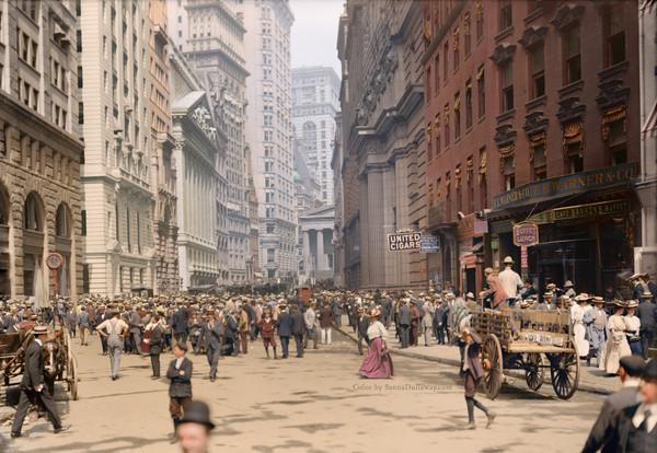 Нью-Йорк, 1900 год. Колоризация