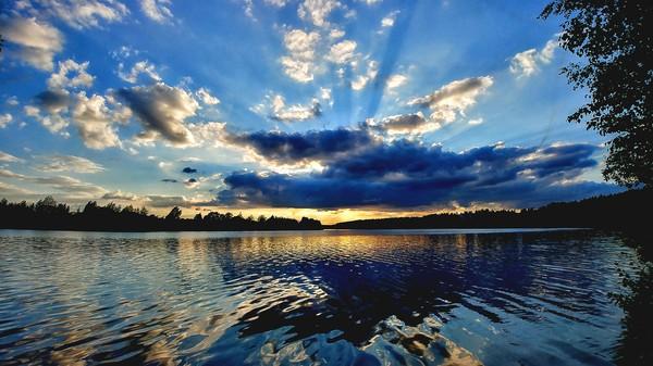 Подмосковный закат природа России, фотография