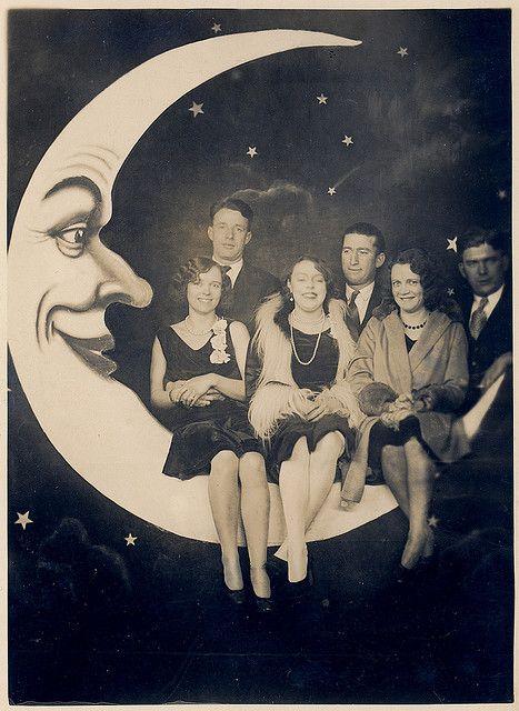 Старые фото с луной фотография, старое фото, луна, длиннопост