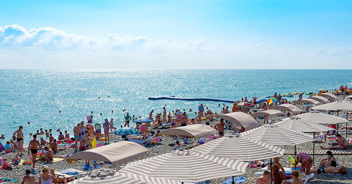 Пляжный отдых в сочи фото