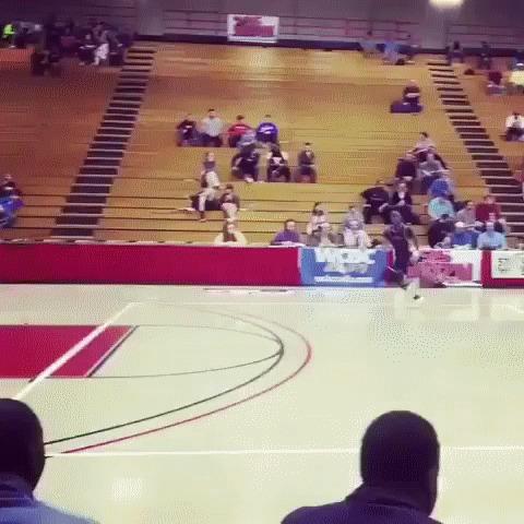 Неплохой прыжок Баскетбол, Данк, Прыжок, гифка
