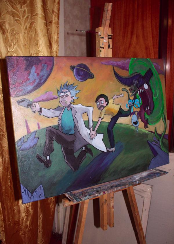 Картины картина, холст, рик и морти, властелин колец, хоббит, длиннопост