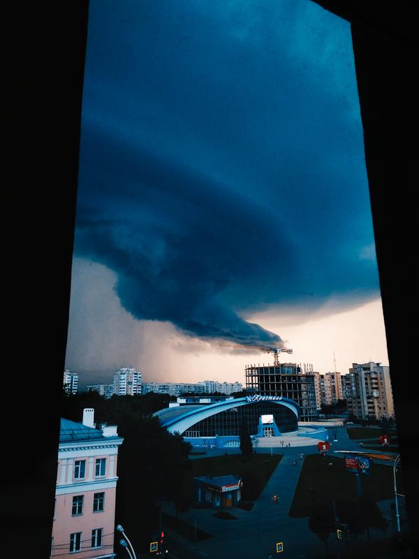 Зло спускается с небес Тамбов, Дождь, ливень, тучи, Небо, апокалипсис