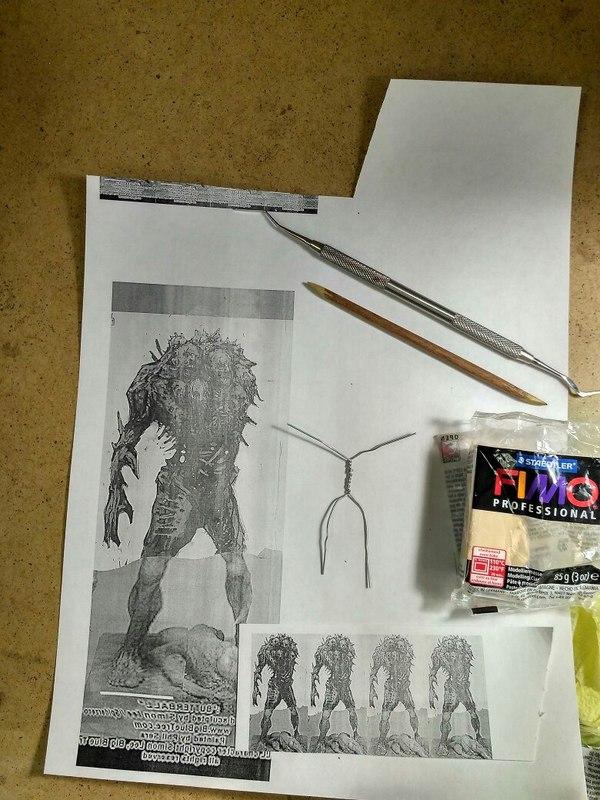 Как создается миниатюра Миниатюра, Wargaming, Полимерная глина, Скульптура, Как это сделано, Длиннопост