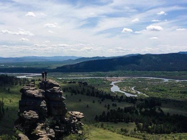 Граница России и Монголии граница, Россия, Монголия, фотография